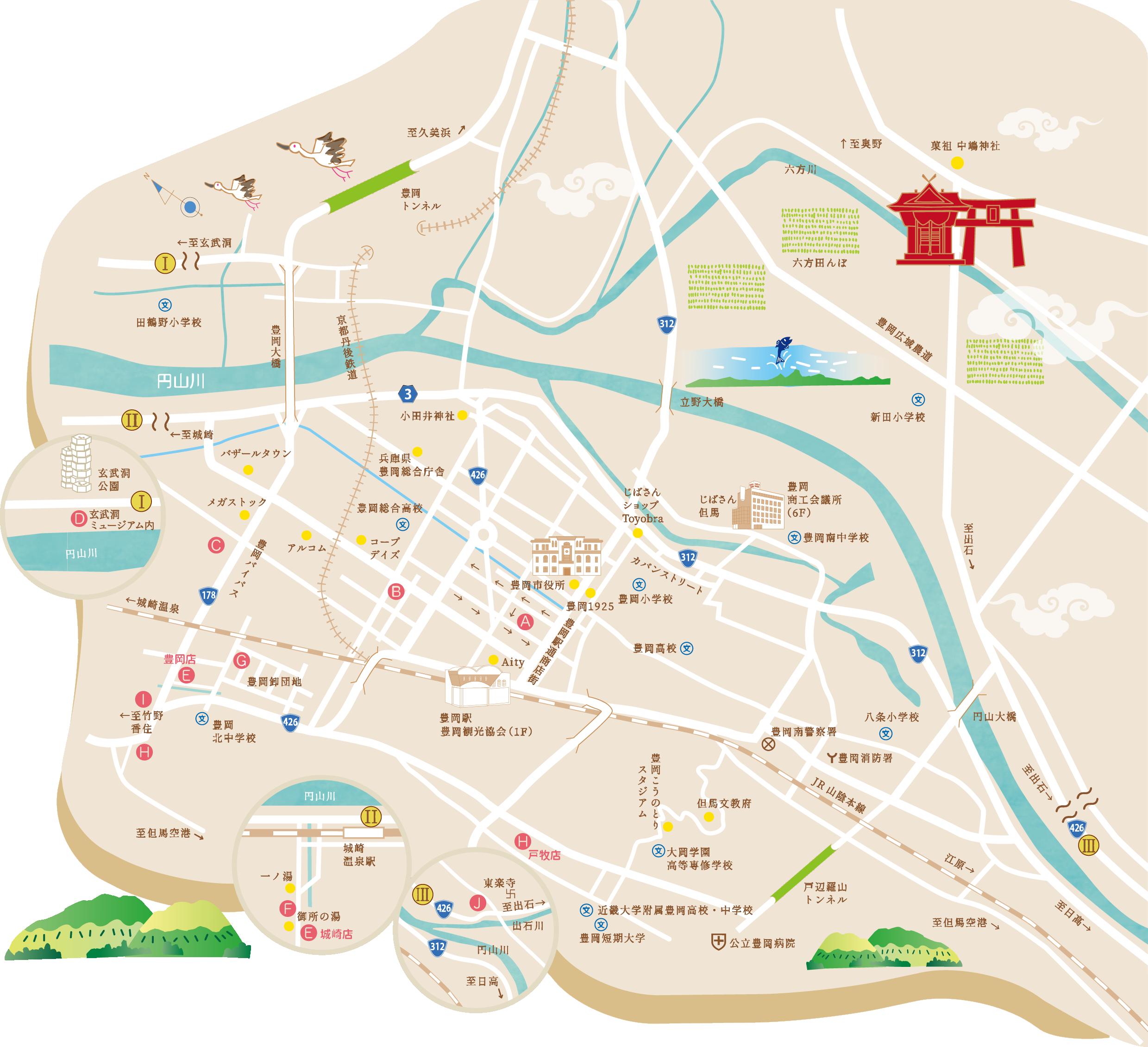 とよおか お米のお菓子MAP